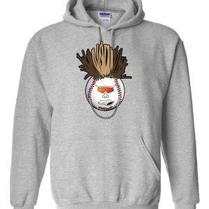 Indians Baseball Mohawk - Grey, Hoodie
