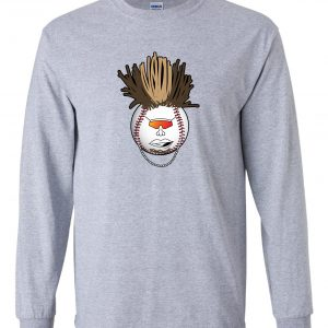 Indians Baseball Mohawk - Grey, Long-Sleeved