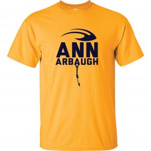 Ann Arbaugh- Jim Harbaugh - Michigan, Gold, T-Shirt