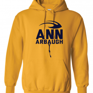 Ann Arbaugh- Jim Harbaugh - Michigan, Gold, Hoodie