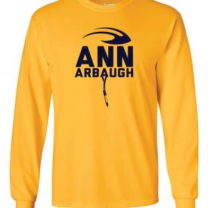 Ann Arbaugh- Jim Harbaugh - Michigan, Gold, Long-Sleeved