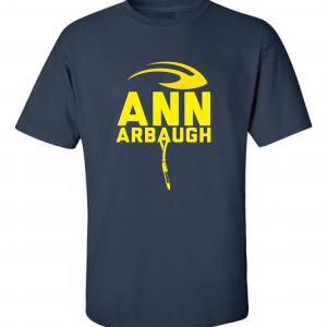 Ann Arbaugh- Jim Harbaugh - Michigan, Navy, T-Shirt