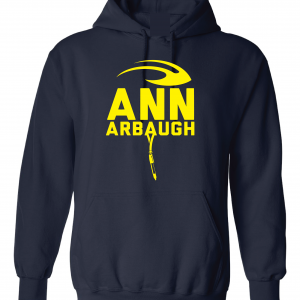 Ann Arbaugh- Jim Harbaugh - Michigan, Navy, Hoodie