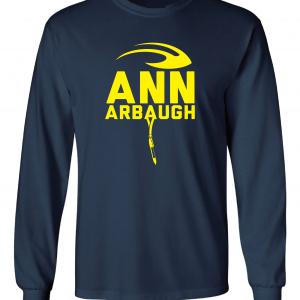 Ann Arbaugh- Jim Harbaugh - Michigan, Navy, Long-Sleeved