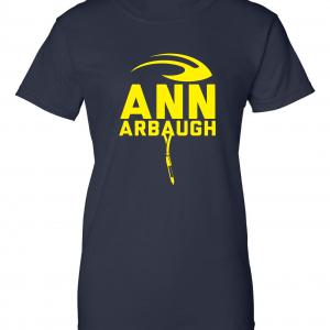 Ann Arbaugh- Jim Harbaugh - Michigan, Navy, Women's Cut T-Shirt