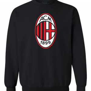 AC Milan - Soccer, Black, Crew Sweatshirt