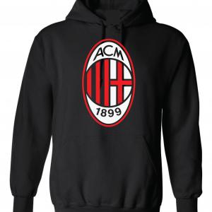 AC Milan - Soccer, Black, Hoodie