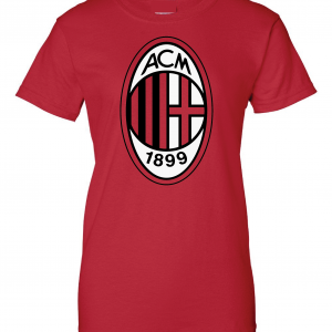 AC Milan - Soccer, Red, Women's Cut T-Shirt