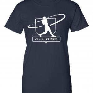 All Rise - Judge Swinging, Navy, Women's Cut T-Shirt