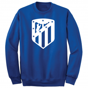 Athletico Madrid - Soccer, Royal Blue, Crew Sweatshirt