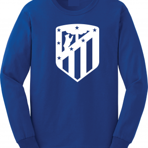 Athletico Madrid - Soccer, Royal Blue, Long-Sleeved
