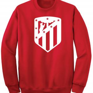 Athletico Madrid - Soccer, Red, Crew Sweatshirt