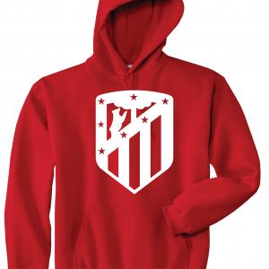 Athletico Madrid - Soccer, Red, Hoodie