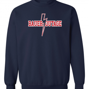 Bauer Outage - Cleveland Indians, Navy, Crew Sweatshirt