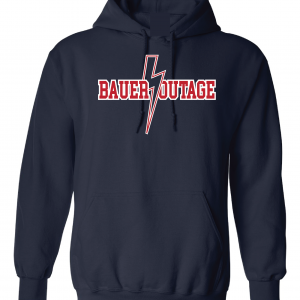 Bauer Outage - Cleveland Indians, Navy, Hoodie