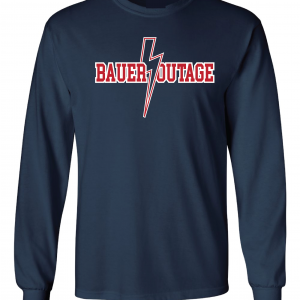 Bauer Outage - Cleveland Indians, Navy, Long-Sleeved