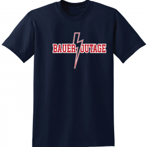 Bauer Outage - Cleveland Indians, Navy, T-Shirt