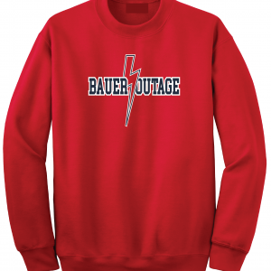 Bauer Outage - Cleveland Indians, Red, Crew Sweatshirt