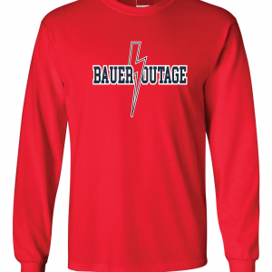 Bauer Outage - Cleveland Indians, Red, Long-Sleeved