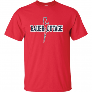 Bauer Outage - Cleveland Indians, Red, T-Shirt