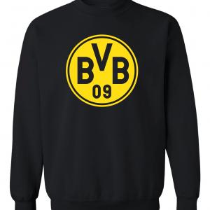 Borussia Dortmund - Soccer, Black, Crew Sweatshirt