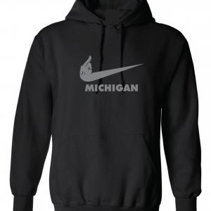 F Michigan, Black, Hoodie