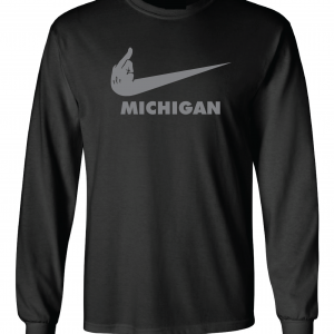 F Michigan, Black, Long-Sleeved