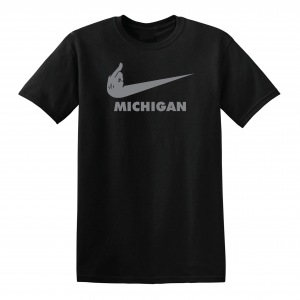 F Michigan, Black, T-Shirt