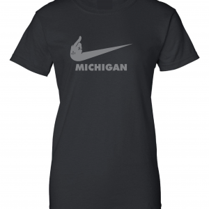 F Michigan, Black, Women's Cut T-Shirt