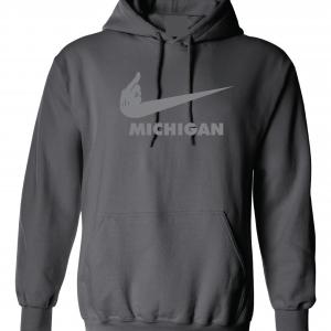 F Michigan, Charcoal/Silver, Hoodie
