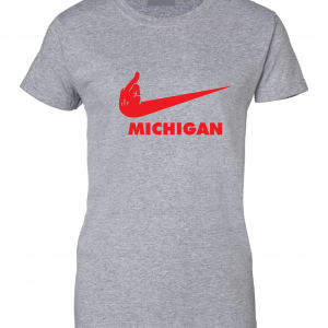 F Michigan, Grey, Women's Cut T-Shirt
