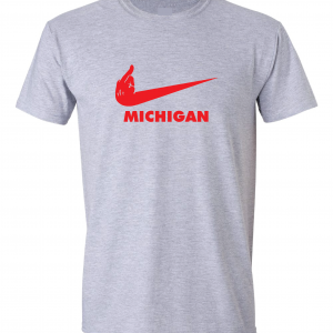 F Michigan, Grey, T-Shirt