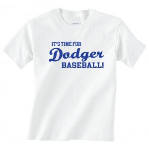 It's Time for Dodger Baseball! - Los Angeles, White, T-Shirt