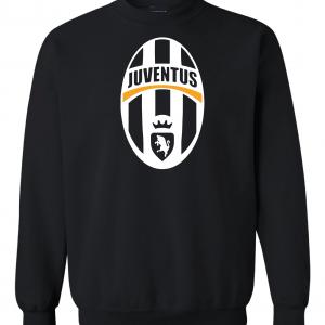 Juventus Crest - Soccer, Black, Crew Sweatshirt