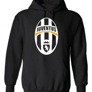 Juventus Crest - Soccer, Black, Hoodie