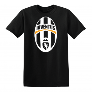 Juventus Crest - Soccer, Black, T-Shirt