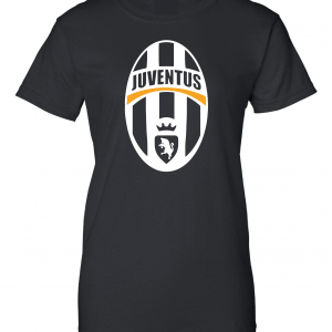 Juventus Crest - Soccer, Black, Women's Cut T-Shirt