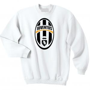 Juventus Crest - Soccer, White, Crew Sweatshirt