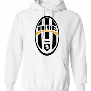 Juventus Crest - Soccer, White, Hoodie