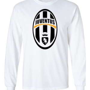 Juventus Crest - Soccer, White, Long-Sleeved