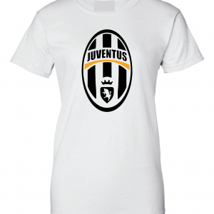Juventus Crest - Soccer, White, Women's Cut T-Shirt