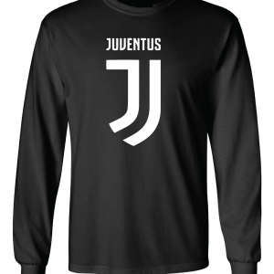 Juventus Logo - Soccer, Black, Long-Sleeved