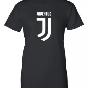 Juventus Logo - Soccer, Black, Women's Cut T-Shirt