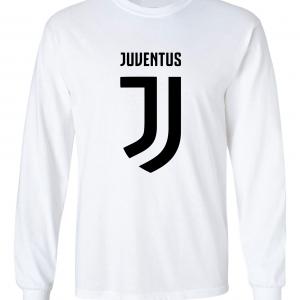 Juventus Logo - Soccer, White, Long-Sleeved