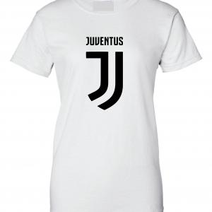 Juventus Logo - Soccer, White, Women's Cut T-Shirt