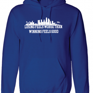 Losing Feels Worse Than Winning Feels Good - Dodgers - Vin Scully, Royal Blue, Hoodie