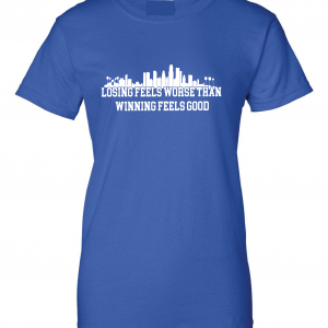 Losing Feels Worse Than Winning Feels Good - Dodgers - Vin Scully, Royal Blue, Women's Cut T-Shirt