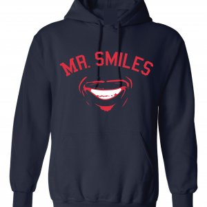 Mr. Smiles - Francisco Lindor - Cleveland Indians, Navy, Hoodie