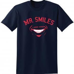 Mr. Smiles - Francisco Lindor - Cleveland Indians, Navy, T-Shirt