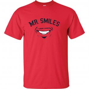 Mr. Smiles - Francisco Lindor - Cleveland Indians, Red, T-Shirt
